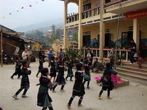 Ballare dei bambini Fotografie Stock