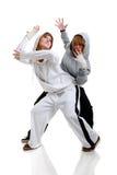 Ballare delle due giovani donne Immagine Stock