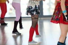 Ballare delle ragazze Fotografia Stock Libera da Diritti