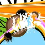 Ballare delle siluette Fotografie Stock