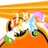 Ballare delle siluette Immagini Stock Libere da Diritti