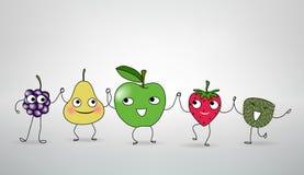 Ballare felice di frutti Fotografie Stock