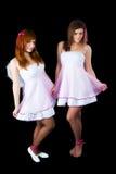 Ballare grazioso di due ragazze Fotografia Stock