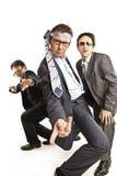 Ballare pazzesco degli uomini d'affari Immagine Stock