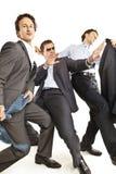 Ballare pazzesco degli uomini d'affari Fotografia Stock Libera da Diritti