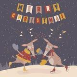Ballare sveglio delle renne illustrazione vettoriale