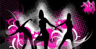 Ballare vettore dentellare e nero Fotografia Stock Libera da Diritti