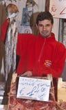 Ballaro,出售巨型章鱼的巴勒莫 免版税图库摄影