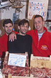 Ballaro,出售虾的巴勒莫 免版税库存图片