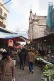 Ballaro市场在巴勒莫 免版税库存照片