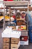 Ballaro marknad i palermo Arkivbild
