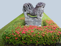 A ballast. Of chinese ancient creature in a small garden Royalty Free Stock Photography