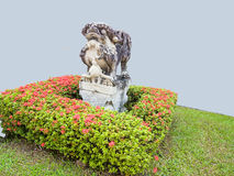 A ballast. Of chinese ancient creature in a small garden Stock Photo