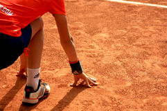 Ballboy at Roland Garros 2012. Picture of a ballboy at Roland Garros, ready for action Stock Image