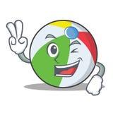 Ballcharakter-Karikaturart mit zwei Fingern Stockbilder