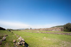 Ballcourt . Ancient ruins of Tula de Allende Stock Images