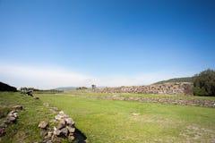 Ballcourt. Tula antyczne ruiny De Allende Obrazy Stock