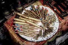 Balle dans une boutique de Mostar photos stock