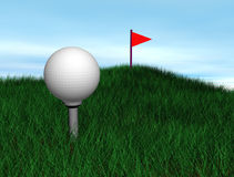Balle de golf illustration libre de droits