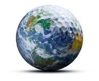 Balle de golf de la terre photos stock