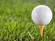 Balle de golf sur l'herbe. Image stock