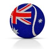 Balle de tennis avec la texture du drapeau de l'Australie, balle de tennis de l'Australie, illustration 3D illustration de vecteur