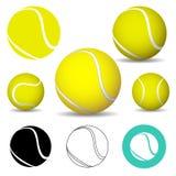 Balle de tennis, icônes illustration stock