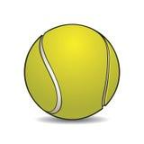 Balle de tennis réaliste avec le contour Photographie stock libre de droits