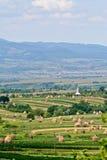 Balle di fieno nella Transilvania rurale Immagine Stock