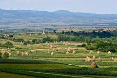 Balle di fieno nella Transilvania rurale Immagini Stock Libere da Diritti
