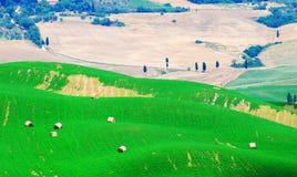 Balle di fieno in Toscana fotografia stock