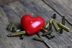 Balle et coeur de forme Image libre de droits