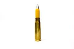balle explosive de 20 millimètres de canon d'avions d'isolement Images stock