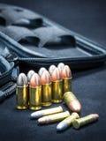 Balle pour l'arme à feu de pistolet Photographie stock libre de droits