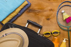 Balled Travel Suitcase Royalty Free Stock Photography