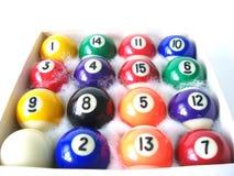 Ballen 1 van het biljart Stock Afbeelding