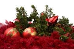 Ballen 10 van Kerstmis Stock Afbeelding