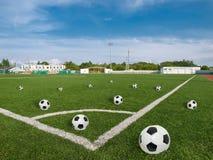 Ballen en stadion Royalty-vrije Stock Foto's