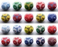 Ballen met Amerikaanse vlaggen van naties stock illustratie
