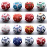 Ballen met Europese vlaggen van naties Royalty-vrije Stock Afbeeldingen