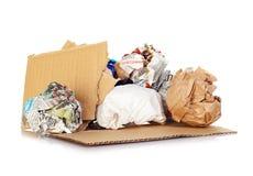 Ballen van document voor recycling. Stock Afbeeldingen