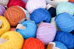 Ballen van katoenen draad Stock Foto