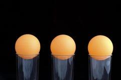 Ballen van pingpong Royalty-vrije Stock Afbeeldingen