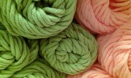 Ballen van wol Stock Foto's