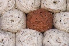 Ballen van wol Stock Afbeeldingen
