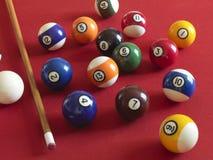 Ballen voor biljart Stock Afbeelding