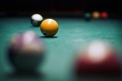 Ballen voor biljart Stock Foto