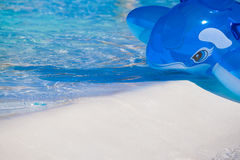 Ballena azul inflable Imágenes de archivo libres de regalías
