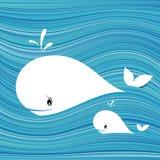 Ballena blanca stock de ilustración