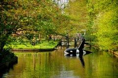 Ballena de asesino (shamoo) en el río en Keukenhof Imagenes de archivo